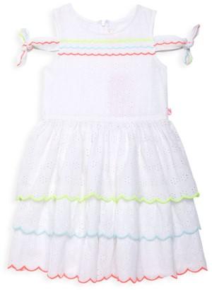 Billieblush Little Girl's & Girl's Eyelet Multicolor Dress