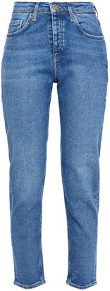 American Vintage Usefull Cropped Faded High-rise Slim-leg Jeans