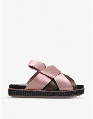 Kurt Geiger London Bloom satin sandals