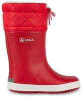 Aigle Red fur-lined rain boots - Giboulée