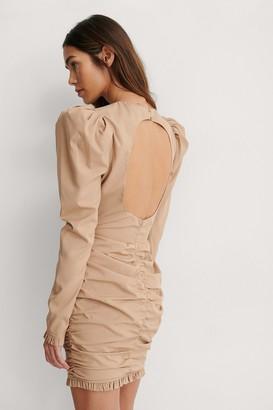 Lizzy X NA-KD Open Back Mini Dress