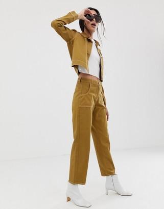 Northmore Denim organic cotton utility trousers-Tan