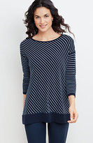 J. Jill Boat-Neck Striped Pullover