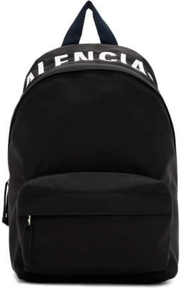 Balenciaga Black and Navy Wheel Backpack