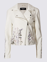 Limited Edition PU Floral Embroidered Jacket