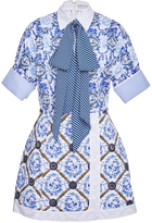 Mary Katrantzou Hayward Neck Tie Dress