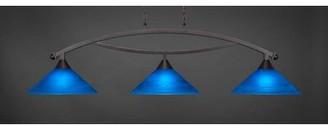 Pool' Eisenhauer 3-Light Pool Table Lights Linear Pendant Red Barrel Studio Base Finish: Dark Granite