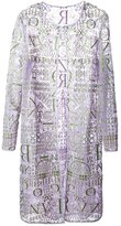 Mary Katrantzou sheer glitter cardigan