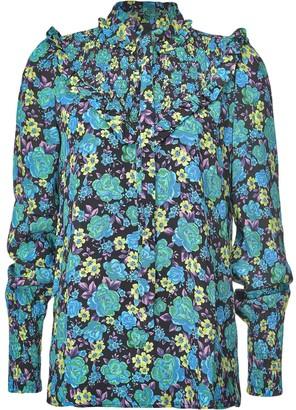Pinko Floral-Print Ruffle-Trim Shirt