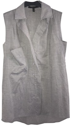BCBGMAXAZRIA Grey Cotton Top for Women