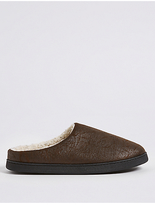 M&s Collection Slip-on Mule Slippers With With Freshfeettm