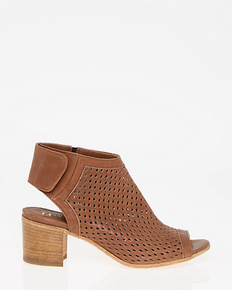 Le Château Italian-Made Perforated Leather Shootie