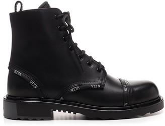 Valentino VLTN Band Combat Boots