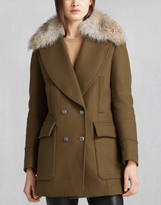 Belstaff Whitney Coat With Fur Spinach