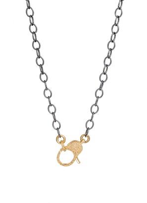 Jane Basch Designs Pave Lock Chain Necklace