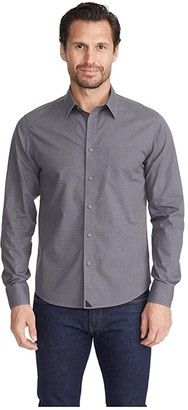 UNTUCKit Wrinkle-Free Marcasin Shirt (Grey/Black) Men's Clothing