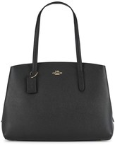 Coach Charlie 40 Black Leather Tote