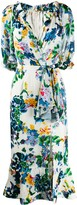 Saloni printed Olivia midi dress