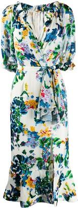 Saloni printed Olivia midi dress