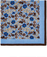 Barneys New York Men's Floral Wool-Cashmere Pocket Square