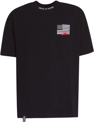 Vision Of Super Logo And American Flag T-shirt