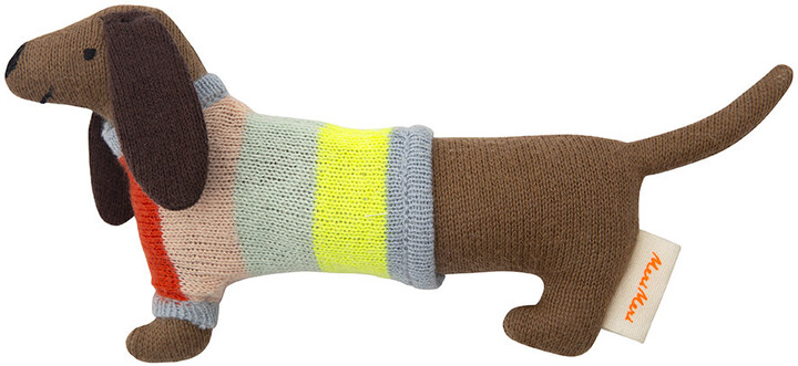Thumbnail for your product : Meri Meri Knitted Baby Rattle - Sausage Dog