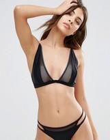 Evil Twin Black Mesh Triangle Bikini Top
