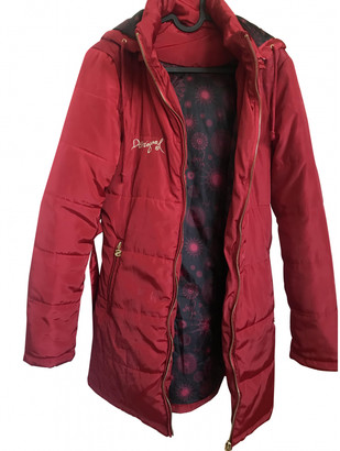 Desigual Red Synthetic Coats