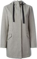 RED Valentino checked hooded coat