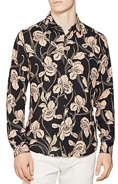 Reiss Brave Floral Slim Fit Button-Down Shirt