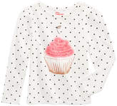 Epic Threads Mix and Match Cupcake Graphic-Print Shirt, Little Girls (4-6X), Created for Macy's