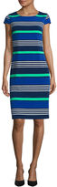 Liz Claiborne Short Sleeve Stripe Shift Dress