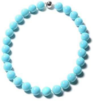 Shop Lc Pearl Beads Necklace Magnetic Lock 925 Sterling Silver 22 Inch - Size 22''
