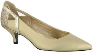 Easy Street Shoes Womens Fancy Pumps Pointed Toe Kitten Heel