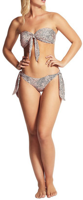 Seafolly Safari Spot Twist Tie Front Bandeau Bikini Top