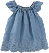 Osh Kosh Oshkosh Chambray Cap Sleeve Top-Baby Girls