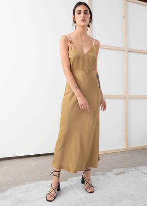 And other stories Rope Strap Midi Slip Dress