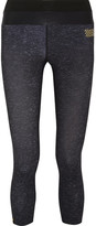 Monreal London Tribal Cropped Stretch-jersey Leggings - Black