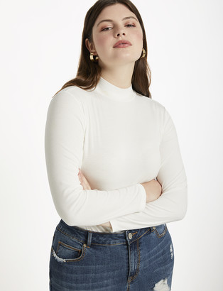 ELOQUII Long Sleeve Turtleneck Top