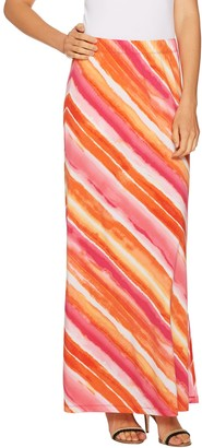 Susan Graver Printed Liquid Knit Maxi Skirt - Regular