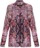 Nicole Miller Heirloom Printed Boyfriend Shirt