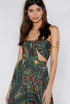 Nasty Gal Hard Works Paisley Off Crop Top