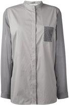 Fabiana Filippi collarless blouse - women - Cashmere/Cotton/Polyamide/Silk - 42