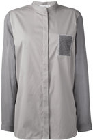 Fabiana Filippi collarless blouse - women - Silk/Cotton/Elastodiene/Cashmere - 42