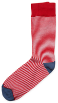 Brooks Brothers Cotton Crew Colorblock Stripe Socks