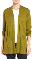 Eileen Fisher Women's Organic Linen & Cotton Open Front Cardigan