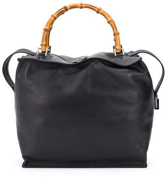 Jil Sander Bamboo-Handle Bowling Bag