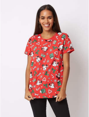 Disney George Mickey Mouse Christmas T-Shirt