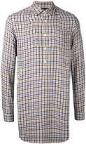 Undercover checked longline shirt