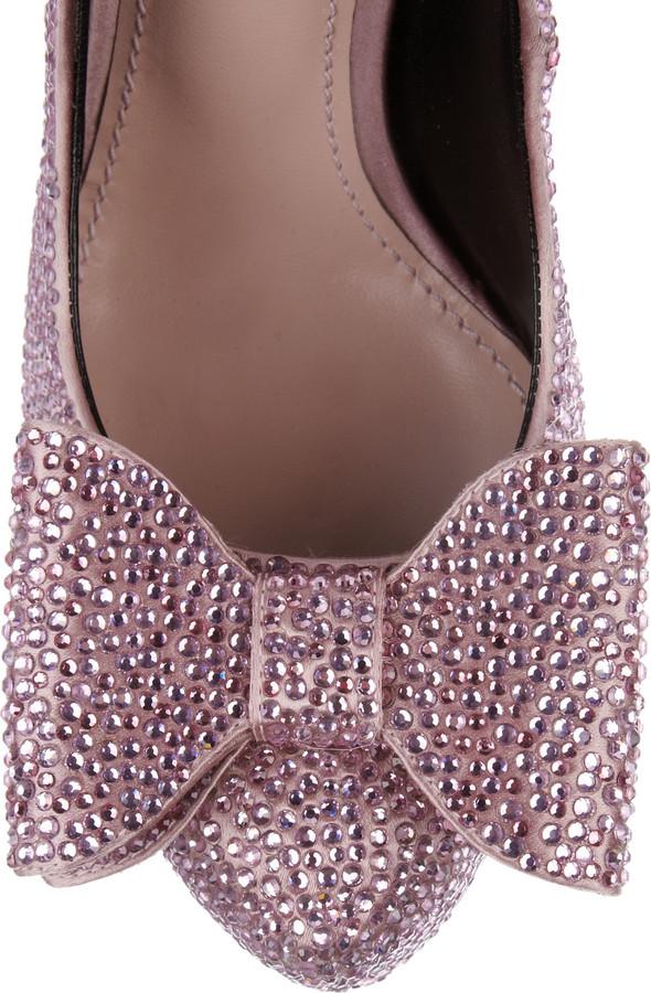 Dolce & Gabbana Crystal-embellished satin pumps